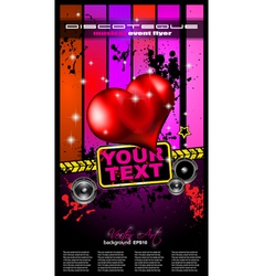 Valentines Music Club Event poster vector image vector image