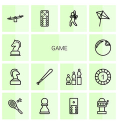 14 game icons vector