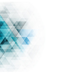 Abstract blue triangles geometric background vector