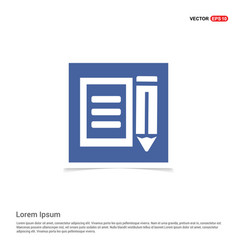 agreement icon - blue photo frame vector image