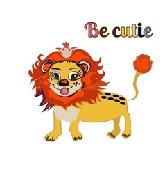 BE CUTIE lion FOR PRINT kid s book vector