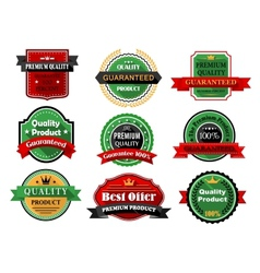 Best offer and quality product flat labels vector image