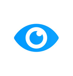 blue eye icon look and vision icon vector image