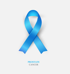 blue silk ribbon - prostate cancer awareness vector image