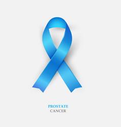 Blue silk ribbon - prostate cancer awareness vector