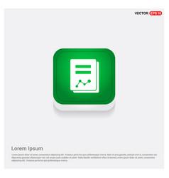 book icon green web button vector image