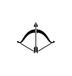 bow and arrow flat icon vector image