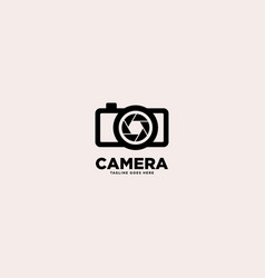 Camera simple logo template vector