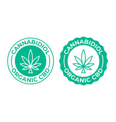 Cannabis leaf icon produced 100 percent organic vector
