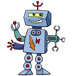 Cartoon robot fantasy character vector