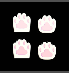 cat paws vector image