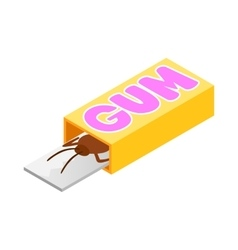 Cockroach in a box of gum icon isometric 3d style vector