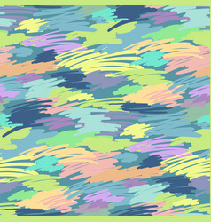 Colored brush strokes vector