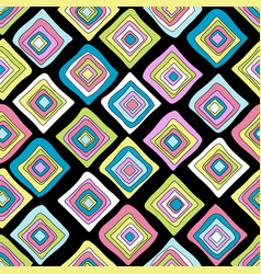 colored rhombus geometrical wrapping paper vector image