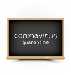 Coronavirus quarantine draw on chalkboard vector
