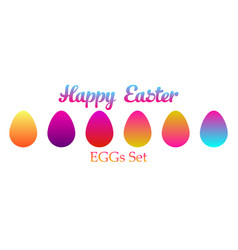 easter eggs set icon vector image