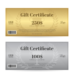Elegant gift certificate or gift voucher template vector