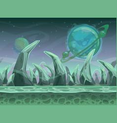 Fantasy seamless alien landscape vector