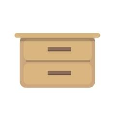 Flat design of cupboard vector image