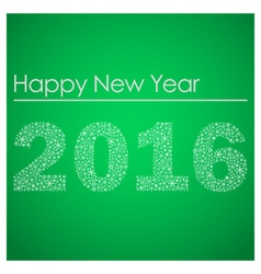 green happy new year 2016 from little snowflakes vector image