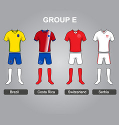 group e team jersey vector image