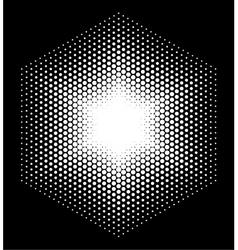 Halftone design elements hexagon vector image
