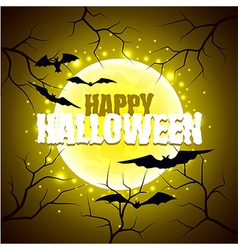 Happy Halloween sign on moon background vector