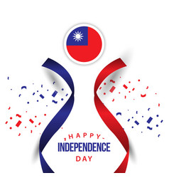 Happy taiwan independence day template design vector