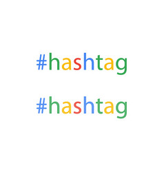 hashtag word in flat style social media keyword vector image