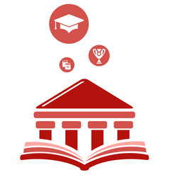 High education symbol vector