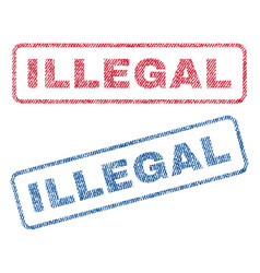 Illegal textile stamps vector