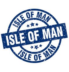 Isle of man blue round grunge stamp vector