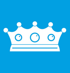 jewelry crown icon white vector image