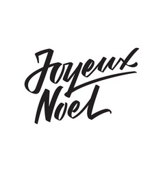 Joyeux noel calligraphic text on white vector