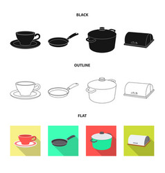 Kitchen and cook symbol vector
