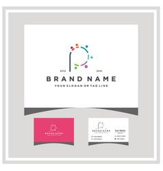 Letter p people team colorful logo design vector