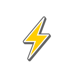 Lightning color icon vector