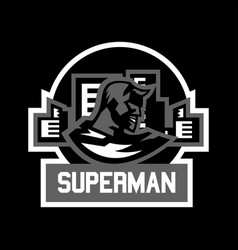 Logo superman superhero costume cape town vector
