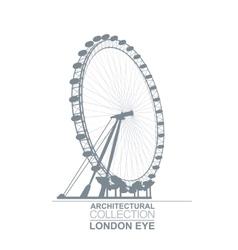 London Eye Wheel vector