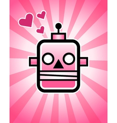 Love retro robot vector
