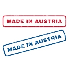Made In Austria Rubber Stamps vector