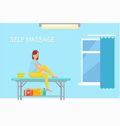 Massage self care and treatment of female vector