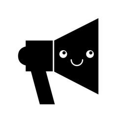Megaphone sound kawaii character vector