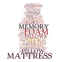 memory foam mattress pillows text background word vector image
