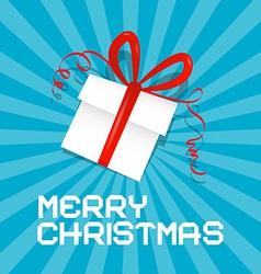 Merry Christmas Blue vector