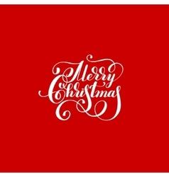 Merry christmas red handwritten lettering vector