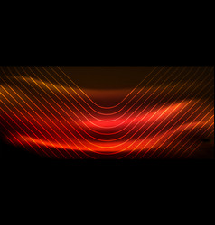 Neon square shapes lines on glowing light vector