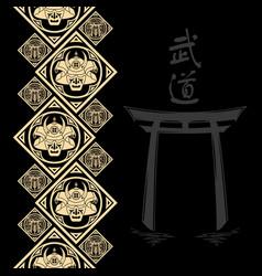 New pattern 2019 samurai 0016 vector