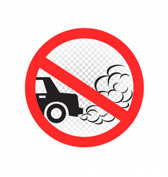 No idling engine off sign icon vector