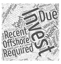 Offshore Investment Banking Word Cloud Concept vector